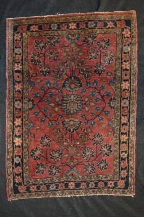 Small Antique Persian Heriz Floor Matt