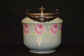 Shelley Silver Mounted Biscuit Jar