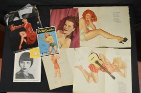 Loose Pinup Scrap Lot And Movie Star News