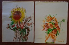 Two Theresa Bernstein Signed Still Lifes W/ Flowers