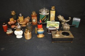 Twenty Miscellaneous Vintage Lighters