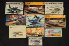 10 Revell And Other Makers Unnmade Model Airplane Lot