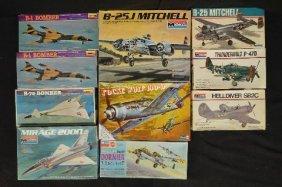 10 Vintage Unmade Plane Models
