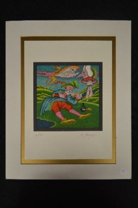 "Pencil Signed Print By Mikheil Chemiakin; 15"" X 11"""