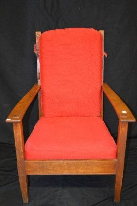 Arts And Crafts Limbert Large Oak Armchair