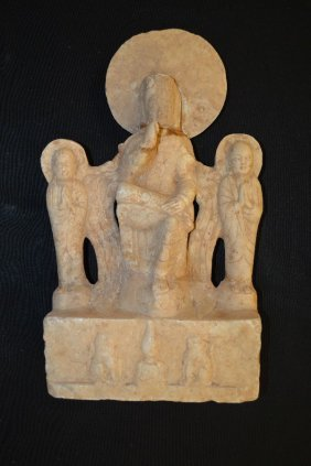 Antique Southeast Asian Carved Stone Deity Grouping,