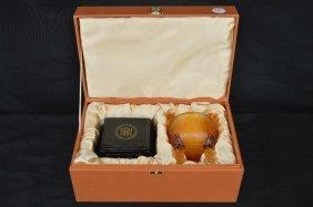 Ceremonial Caseed Peking Glass Censor