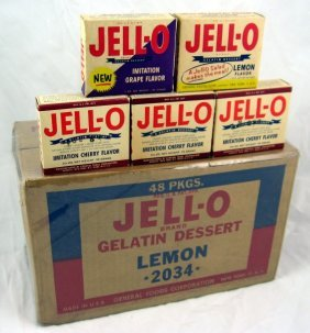 Early Jell-O Gelatine Box & Nos 1940's Jello