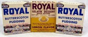 3 Vintage Nos Boxes Royal Gelatin & Pudding