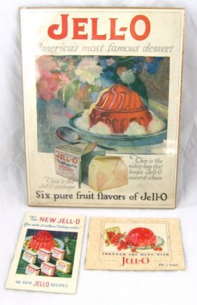 Vintage Jell-O Advertising Sign & Booklets