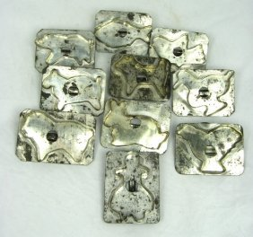 10 19th Cent. PA Soldered Tin Animal Cookie Cutters