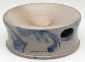 MID-ATLANTIC DECORATED SALT-GLAZED STONEWARE SPIT
