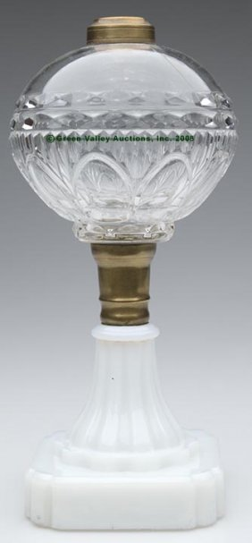 PETAL AND RIB STAND LAMP,  Kerosene Period, Colorle