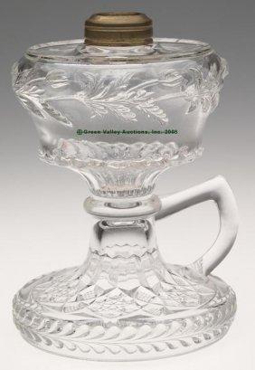 POPPY BAND FOOTED FINGER LAMP,  Kerosene Period, Co