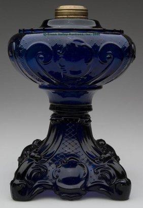 PRINCESS FEATHER STAND LAMP,  Kerosene Period, Coba