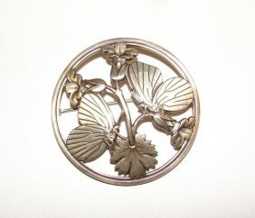 "Georg Jensen Sterling Butterfly"" Pin."""