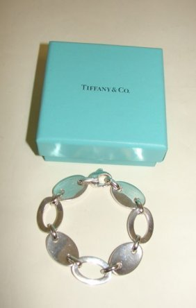 Tiffany & Co. Sterling Link Bracelet.