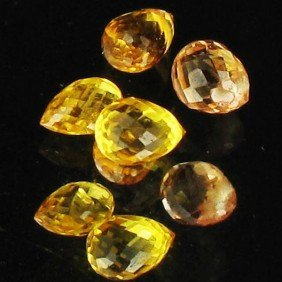 1.12ct Yellow Sapphire Briolette Parcel EST: $21 -