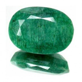 4+ct. Excellent Oval Cut S. American Emerald EST: $