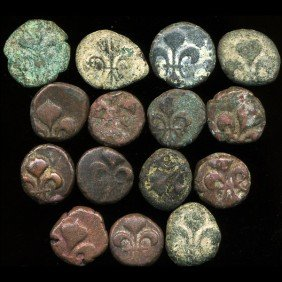 1800s Indo-French Bronze Coin Hi Grade EST: $60 - $
