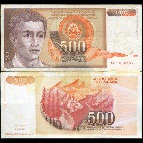 1991 Yugoslavia 500 Dinara Scarce Hi Grade Note