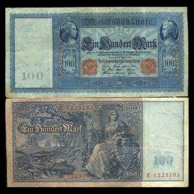 1910 Germany 100 Mark Note Hi Grade Rare