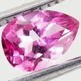 1ct Mystic Pink Pear Topaz