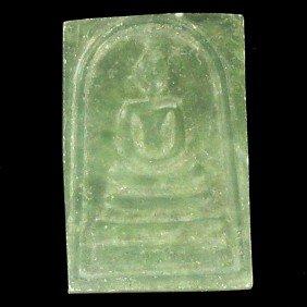 Thai Jade Handcarved Buddha Amulet