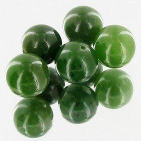 25.41ct Jade Round Beads Parcel