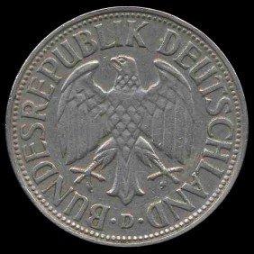 1954D Germany 1 Mark Hi Grade RARE