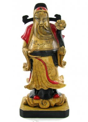Hand Carved Marble Chinese Wise Man EST: $300 - $60