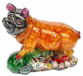 900ct Pig Statue Statue Fancy Sapphire~Topaz EST: $