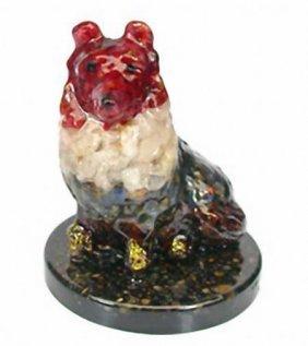 800ct. Dog Statue Statue Fancy Sapphire~Topaz EST: