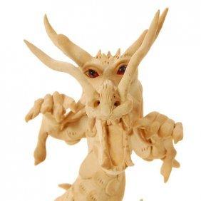 Handmade Teak Dragon EST: $175 - $310 (CLB-128)