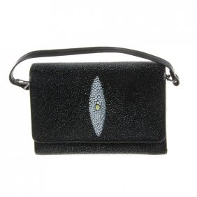 Ladies Stingray Hide Clutch Purse Wallet