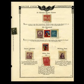 1932 US Stamp Album Page 11pcs EST: $15 - $30 (STM-