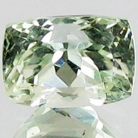 5.8ct Sparking Top Green Kunzite Cushion