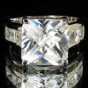 39.56twc Lab Diamond White Gold Vermeil/925 Ring