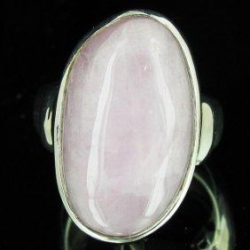 66.15twc Natural Kunzite Sterling Ring