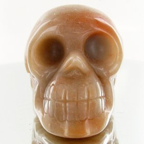 1375ct Hand Carved Agate Skull