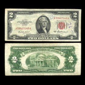 1953A $2 US Note Nice Condition SCARCE