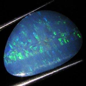 4.15ct Australian Black Opal Doublet Full Fire
