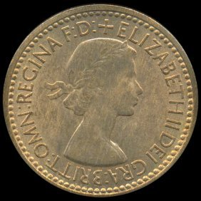 1953 Britian 1/4p MS64