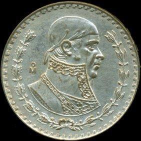 1962 Mexico Silver Peso AU