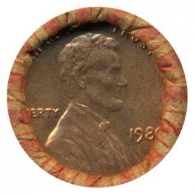 1980 Linc 1c BU Scarce UnOpened Bank Roll 50 GEMS