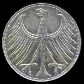 1957F Germany Silver 5 Mark Hi Grade