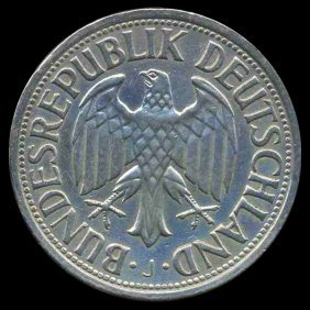1962J Germany 1 Mark Hi Grade Scarce
