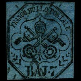 1852 Papal States 7b Stamp