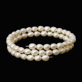 Saltwater Small White Pearl Bracelet