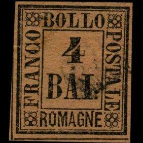 1859 Romagna 4b Stamp